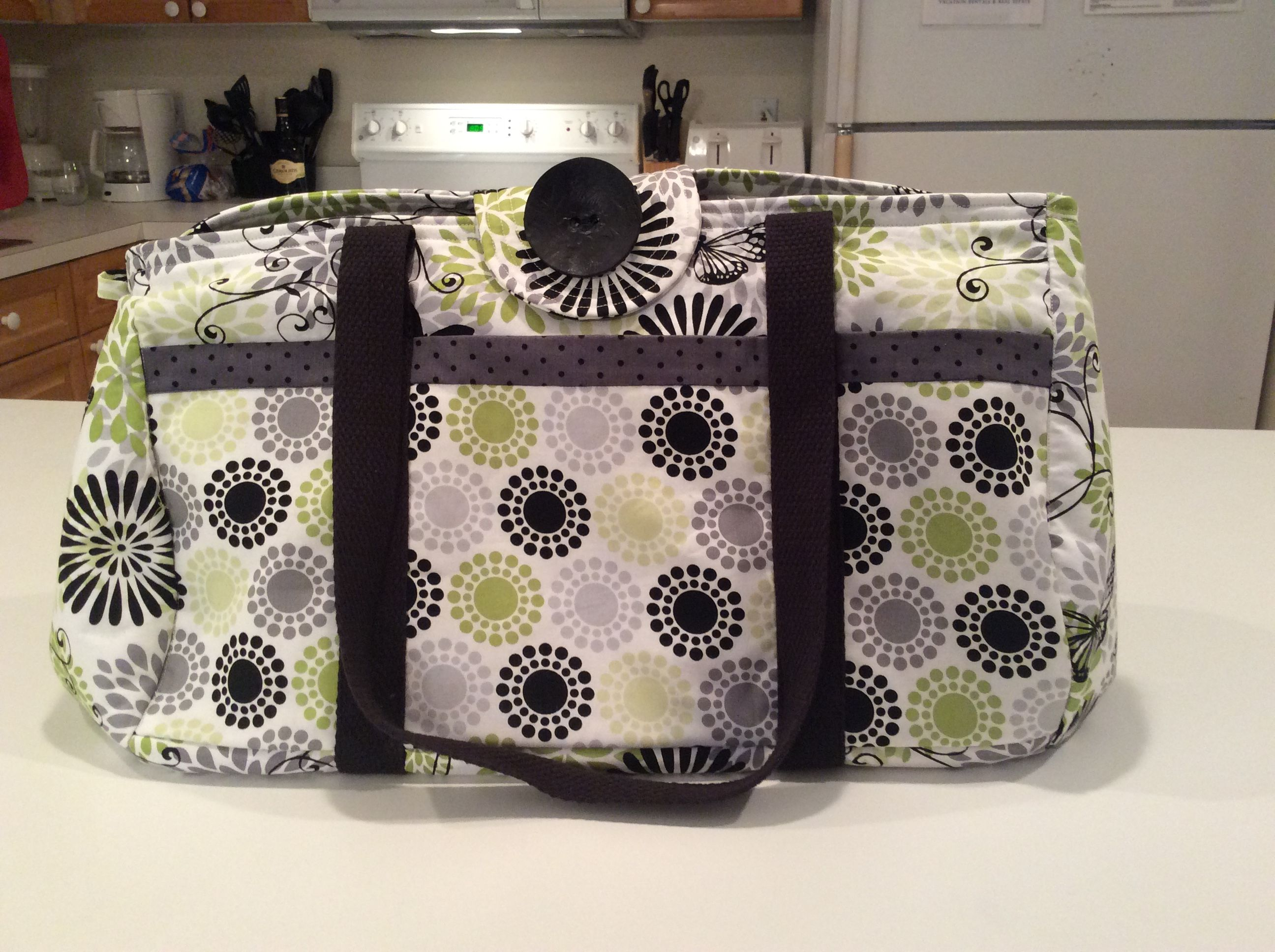 Weekender bag made with Barb and Diane in Destin?