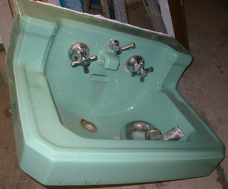 Image result for vintage green bathroom sink