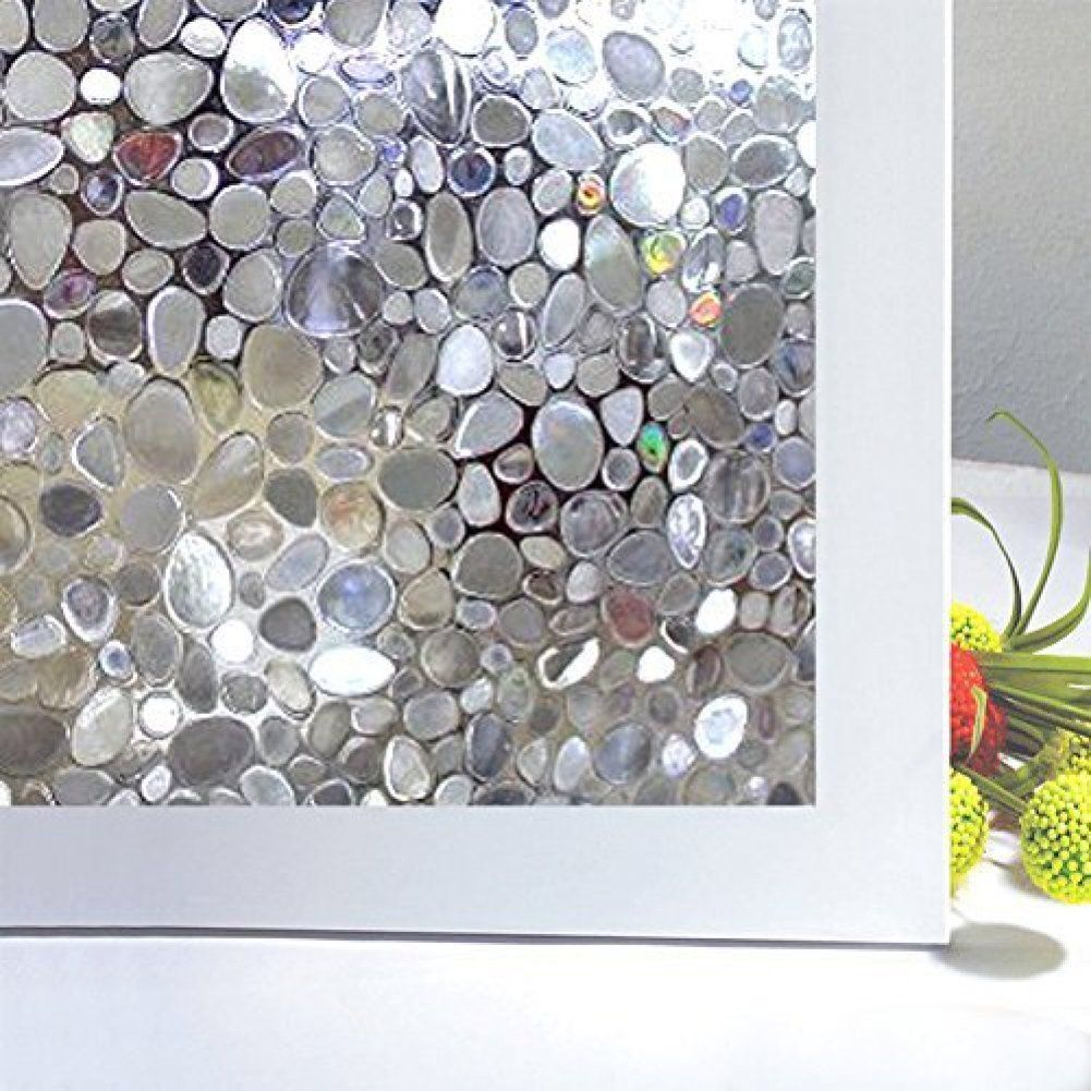 Awesome Amazon.com: Bloss Cobblestone Embossed Stained Window Film Static Cling Film  Etched Opaque Privacy