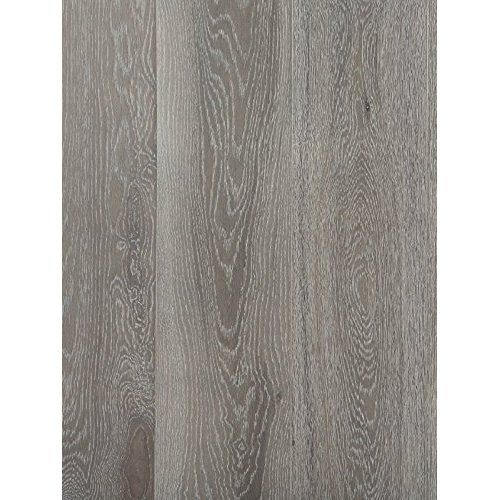 Vinyl Floor Planks Pack of 10 Light Grey Oak 6 Inches x 36 Inches