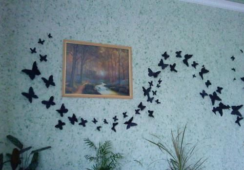 cheap home decorations, paper craft ideas for kids and adults, handmade wall decorations - Use this idea to make dragonflies instead