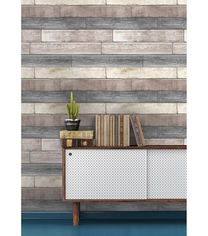 Wallpops Nuwallpaper Reclaimed Plank Wood Peel Stick Wallpaper Online Only Product Wood Plank Wallpaper Wood Planks Wood Wallpaper