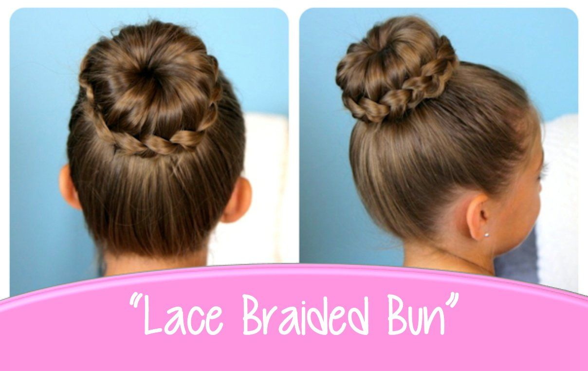 lace braided bun | cute updo hairstyles this would be cute