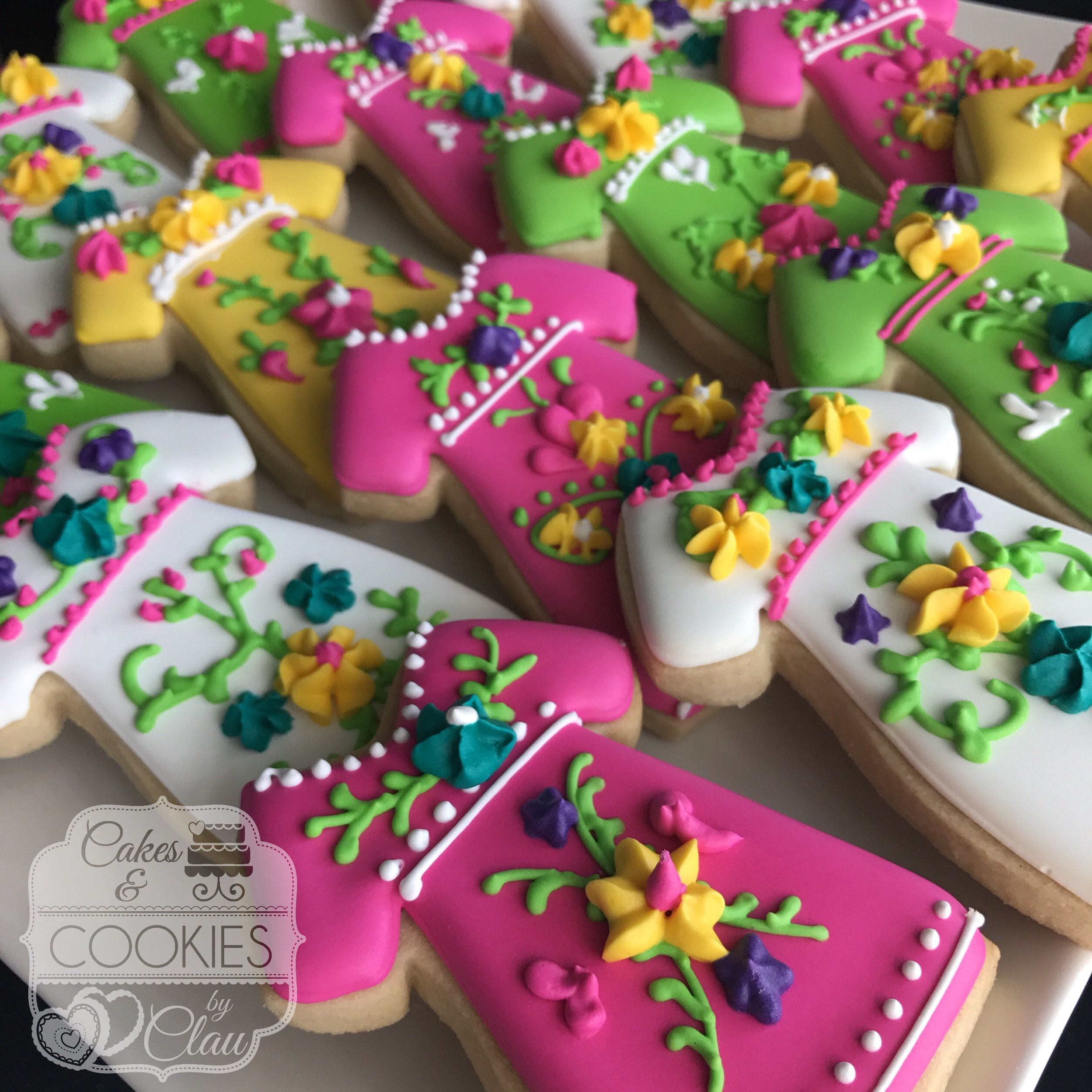 Fiesta mexican dress cookies mexican party theme fiesta