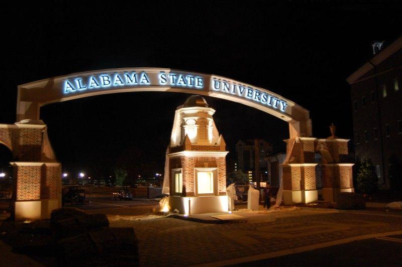Entrance Alabama State University Montgomery Alabama State