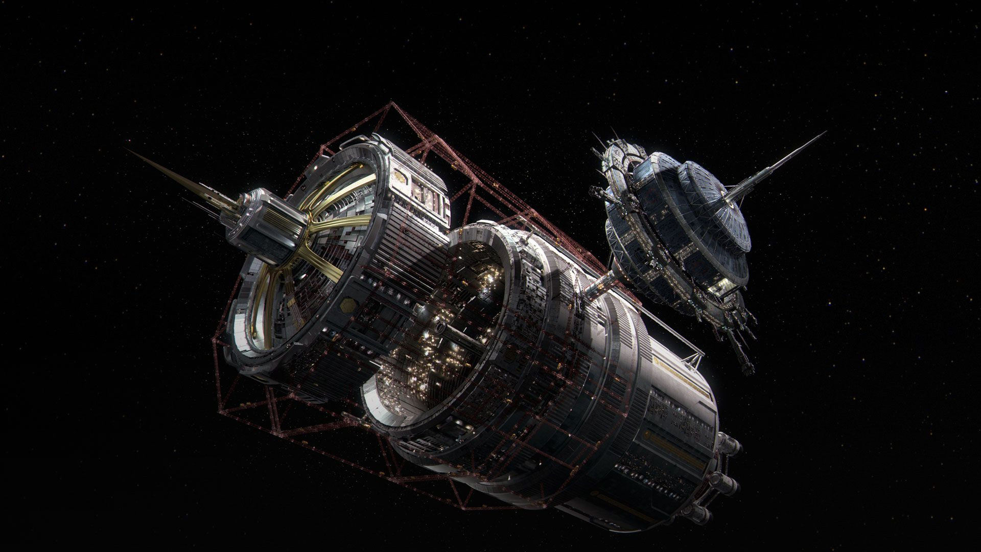 Station Spaceship Shape
