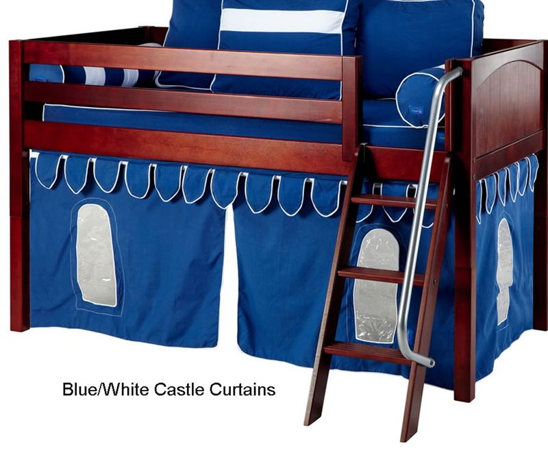 Bunk Bed Curtains Blue u0026 White Castle  sc 1 st  Pinterest & Bunk Bed Curtains Blue u0026 White Castle   Just for Baby/Kid ...