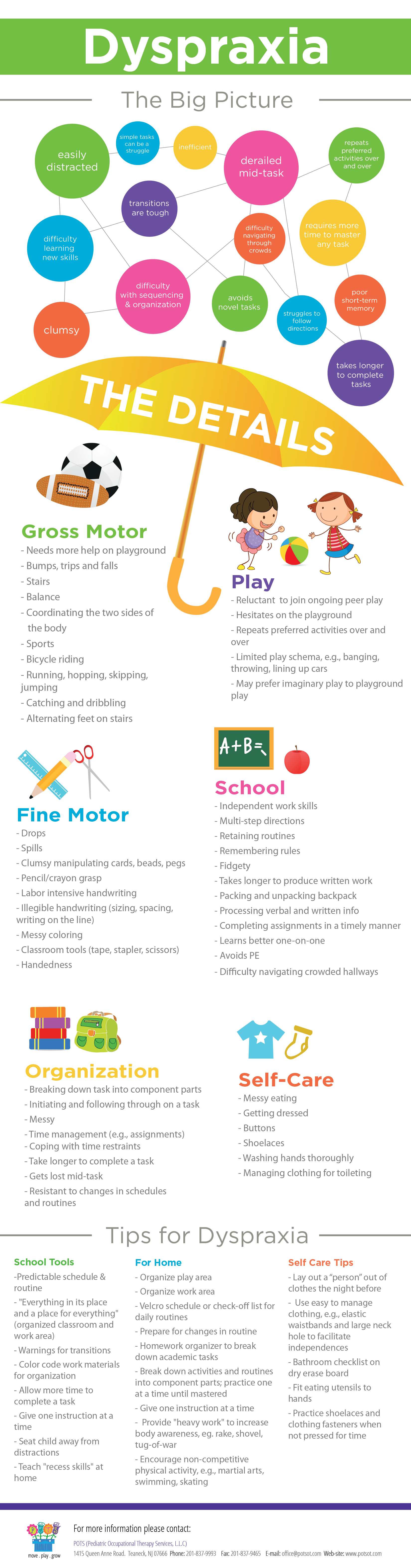 Dyspraxia Pinned by Pediatric Therapeutic Services, Inc  (Infographic) is part of Pediatric occupational therapy - Dyspraxia can hinder success  Do you knoww what it is and how to help a child with dyspraxia  This infographic will fill you in