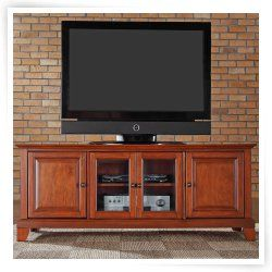 Crosley Newport 60 In Low Profile Tv Stand Classic Cherry Low Profile Tv Stand 60 Tv Stand Cool Tv Stands