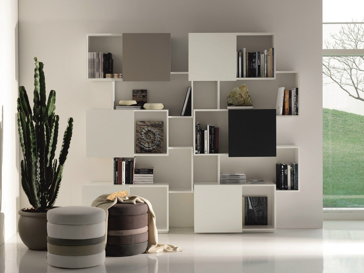 Biblioth Que En Mdf Piquant By Cattelan Italia Design Andrea  # Bibliotheque Moderne Design Panneau Coulissant