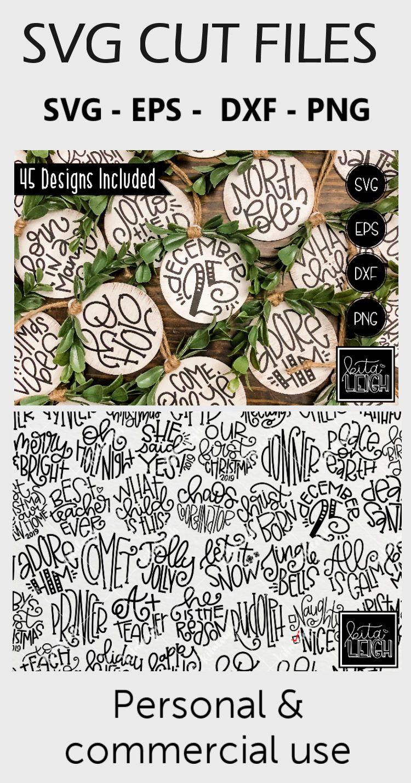 Mega Christmas Hand Lettered Rounds Bundle Svg 376281 Hand Lettered Design Bundles Hand Lettering Christmas Svg Files Lettering Design