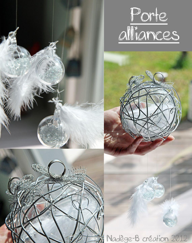 Porte Alliance Moderne En Fil Alu Autres Art Par Nadegeb - Porte alliance mariage