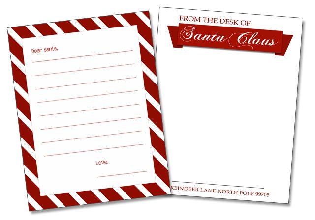 101 Days of Christmas Printable Santa Letter Templates Santa
