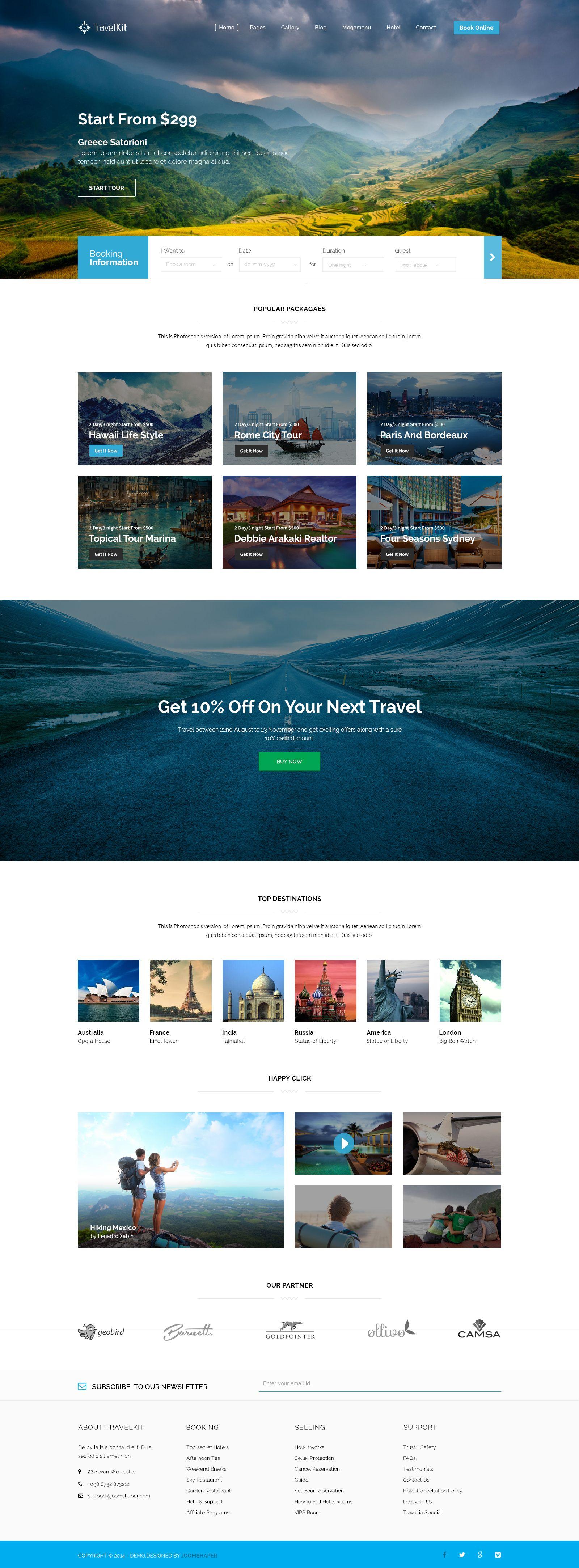 Dribbble Travelkit Jpg By Joomshaper Travel Website Design Web Layout Design Web Design Inspiration