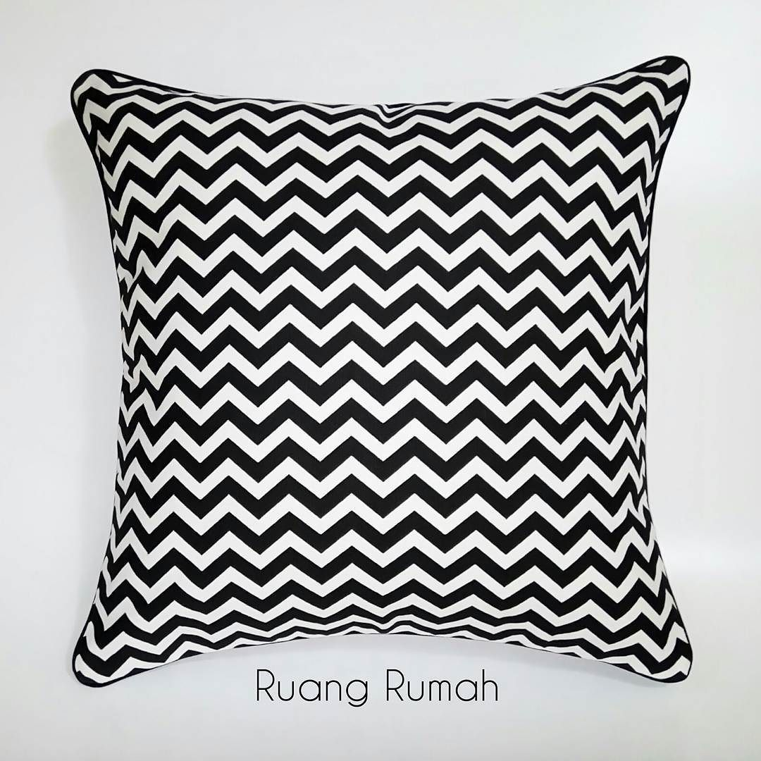Motif Kursi Sarung Bantal Kursi Sofa Cushion Cover Chevron Black And
