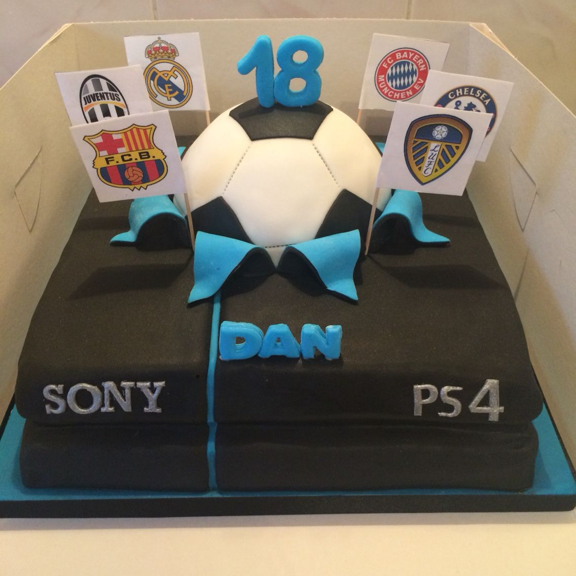 Ps4 Fifa Party Cake Party Cakes 80 Birthday Cake Playstation Cake