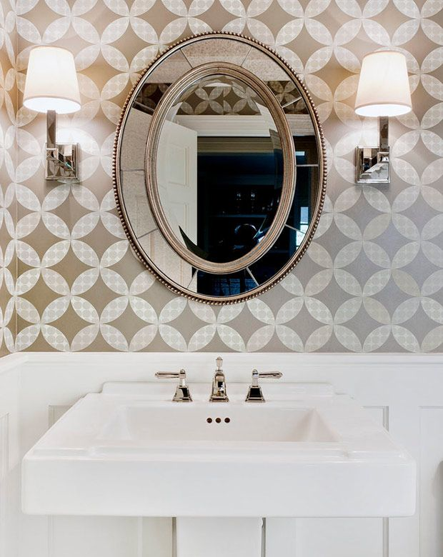 10 Best Wallpapered Powder Rooms From Pinterest Powder Room Design Powder Room Wallpaper Bathroom Design