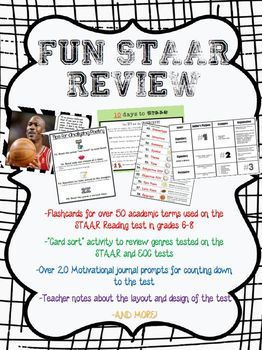 Fun Staar Test Prep For Grades 6 8 Elar Intervention Pinterest