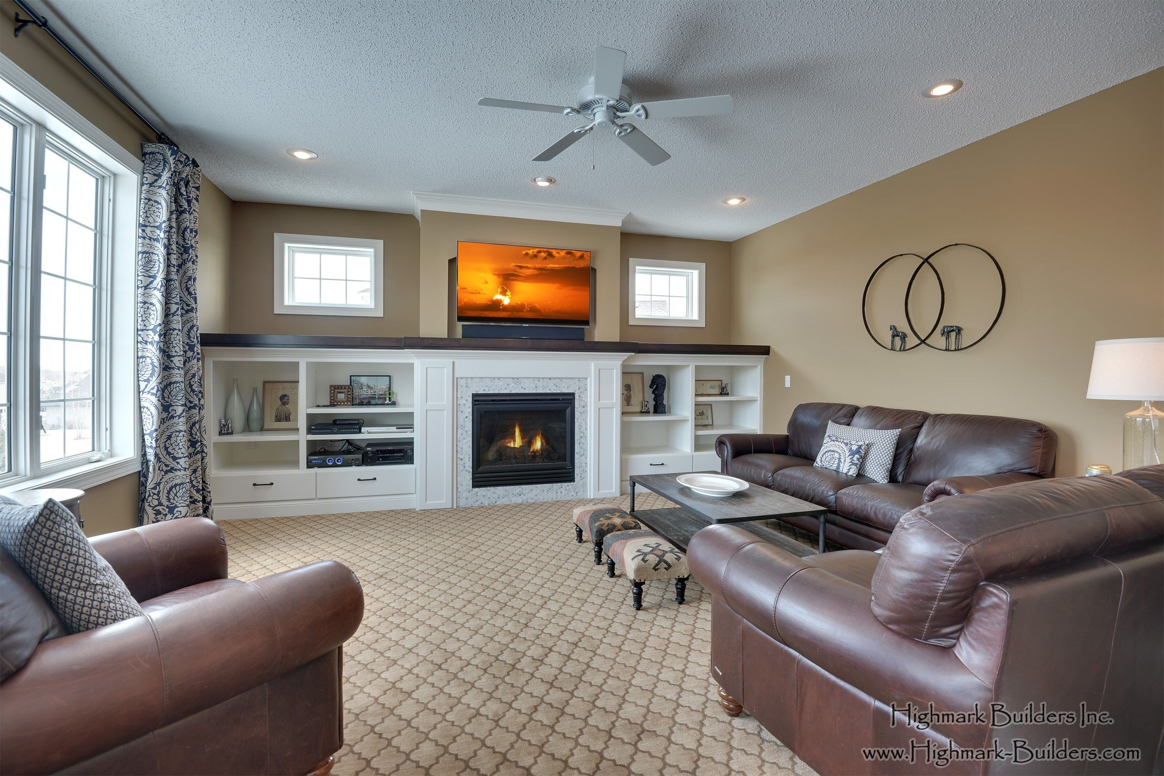 Great Room Built-Ins | Home, Custom homes, Home builders