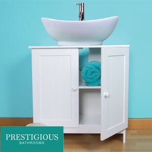 Buy Prestigious Bathrooms Under Sink Cabinet At Home Bargains Under Sink Storage Sink Cabinet White Bathroom Furniture