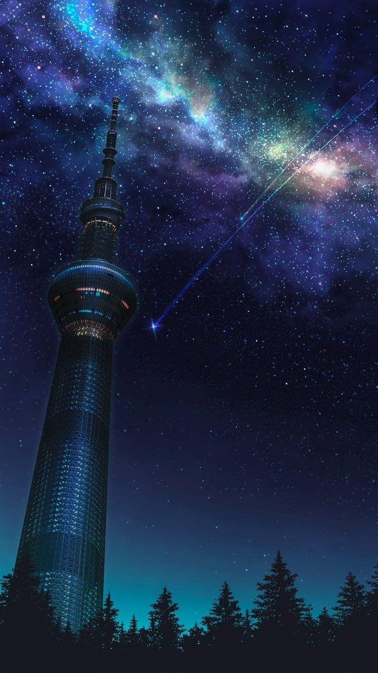 Starfall in colorful milky way - Milky way Galaxy