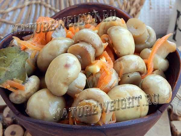 приготовить грибы шампиньоны по корейски