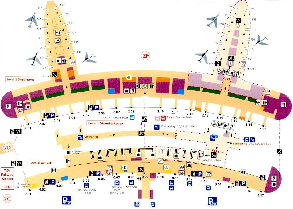 charles de gaulle airport map google search