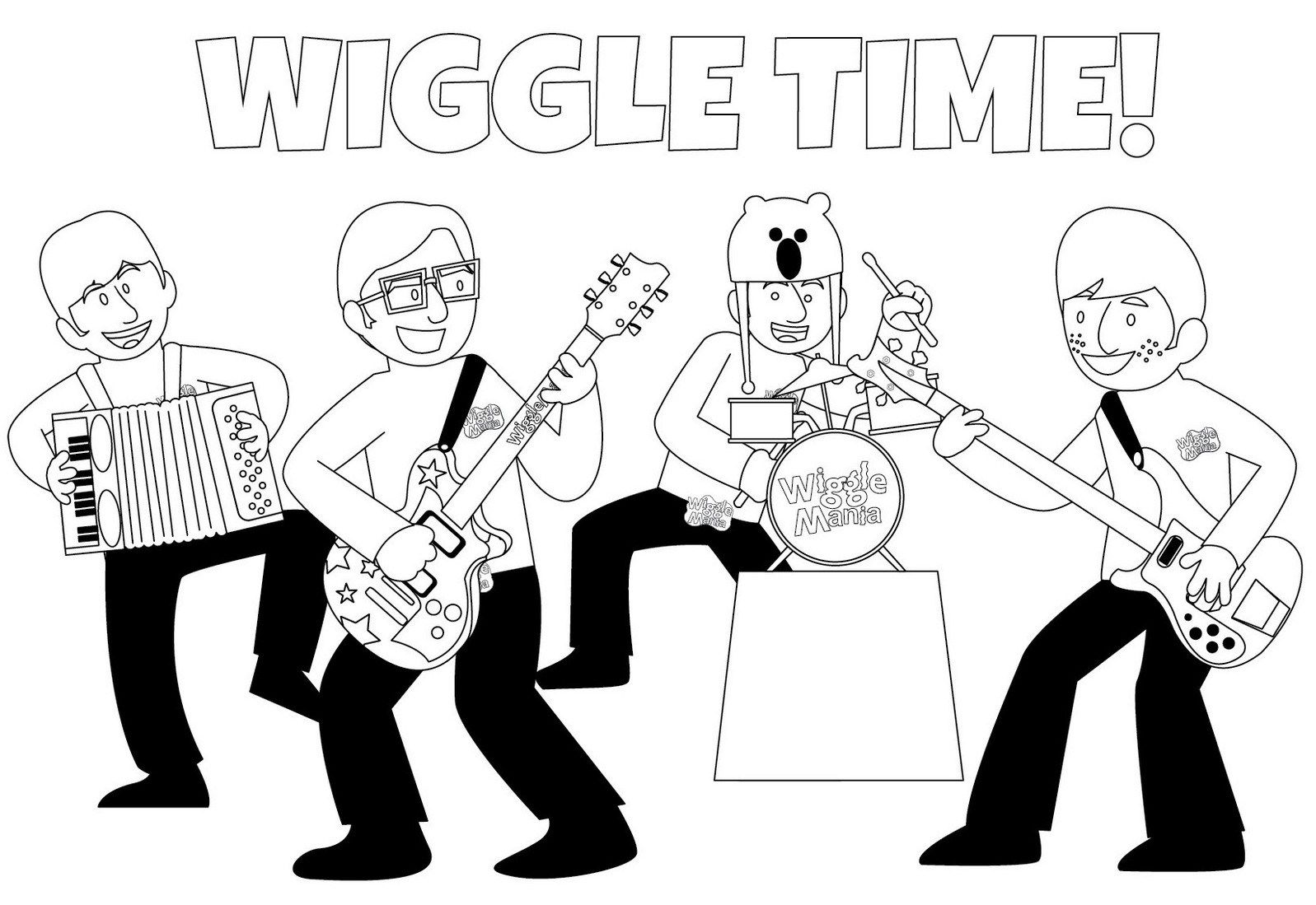 Fun Wiggles Coloring Pages Teaching Social Lessons