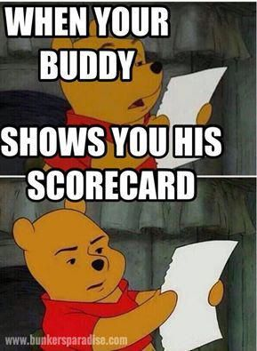 When your golfing buddy shows you his scorecard #golf #golfmeme #golfhumor #golfhumour #golfhumor