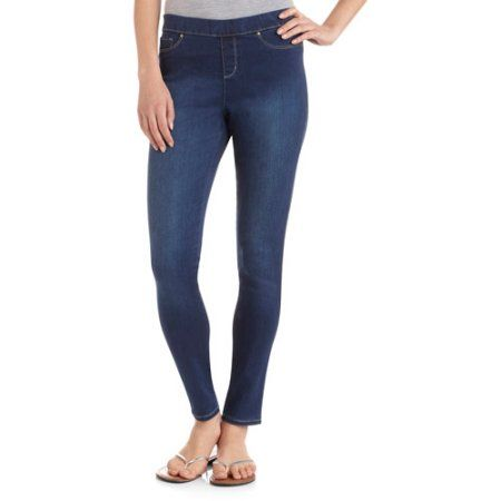 85147baaa2ccc1 Faded Glory Women's Premium Pull-On Jeggings, Size: 14, Blue ...