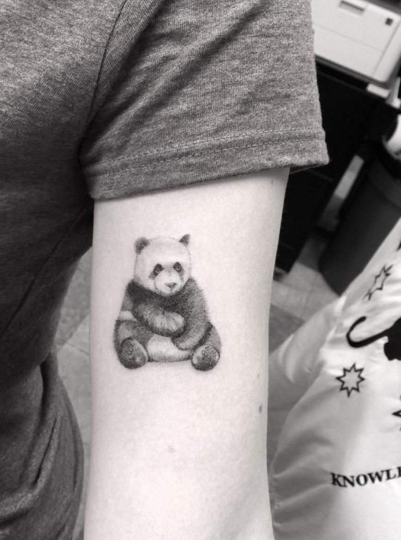 Dr Woo Tattoo Artist Half Needle Tattoo Panda Tattoos