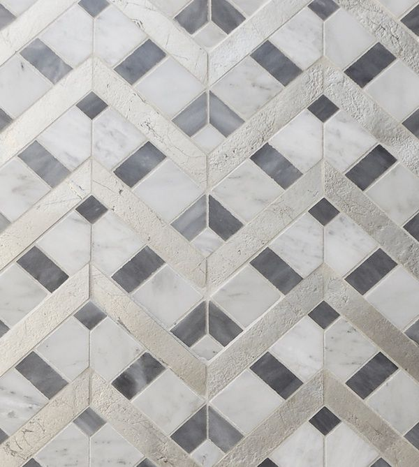 Petite alliance 2 calacatta oxford stone silver leaf for Alliance flooring