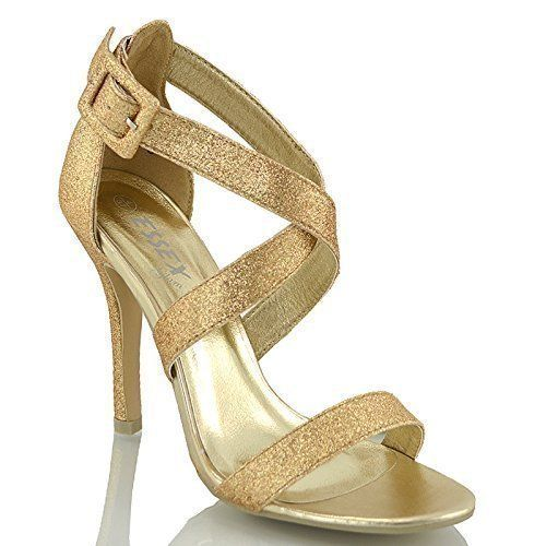 NEW WOMENS LADIES HIGH HEEL EVENING PARTIES WEDDING SANDALS SHOES SIZE 4 5 6 7 8