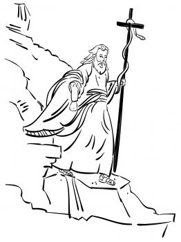 Moses Carrying The Bronze Serpent Bible Coloring Pages Bible
