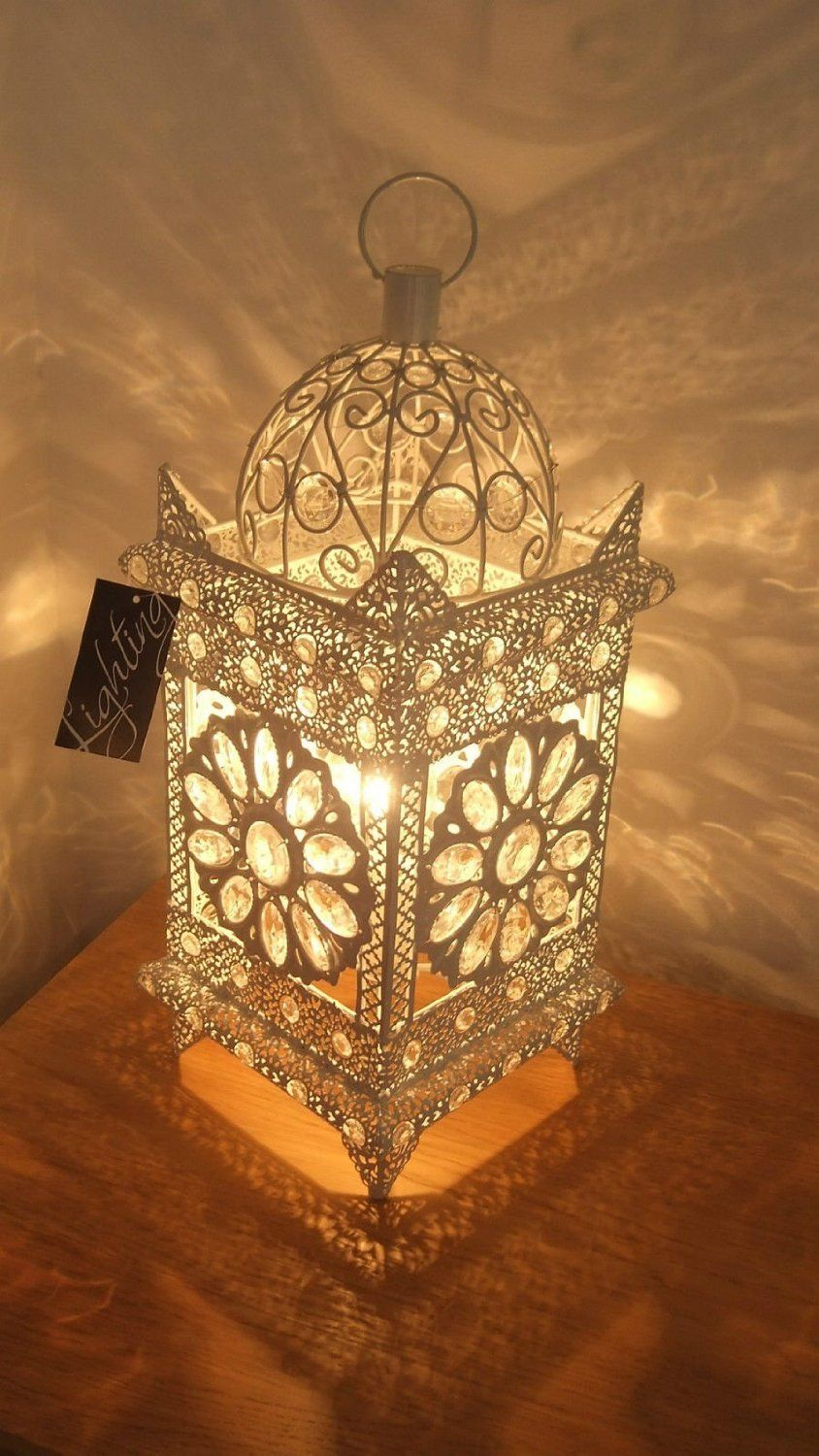 Stunning Moroccan Style Vintage Jeweled Cutwork Flower