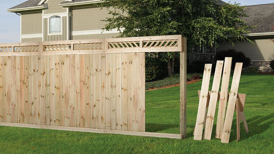 Decorative Lattice Fence Top Kit With Tongue And Groove