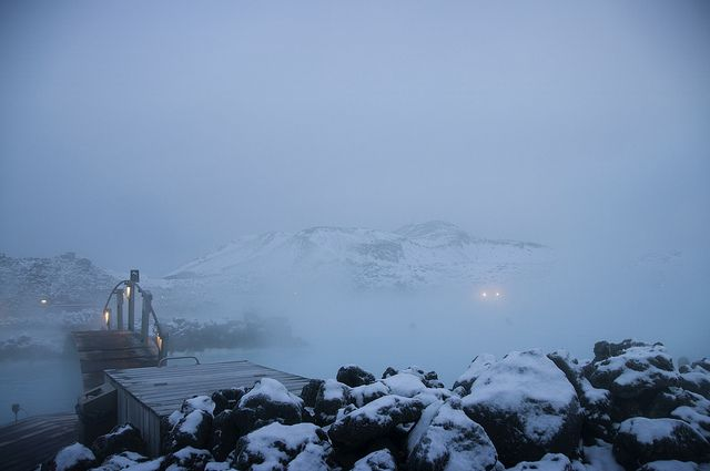 Wintry afternoon at the Blue Lagoon