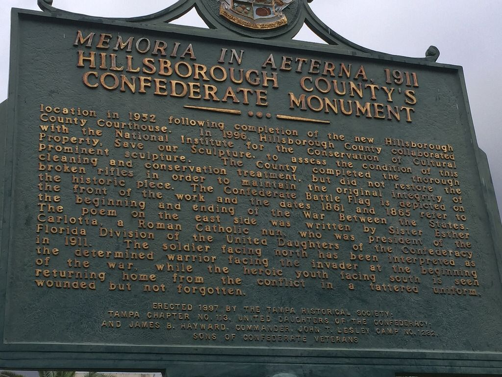Part 2 of sign describing Confederate monument outside of