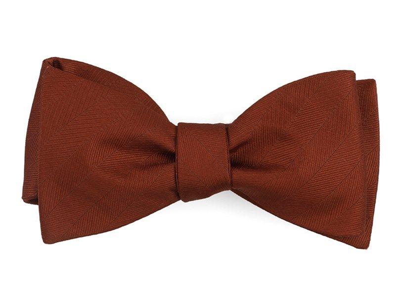 4afecabfe806 Herringbone Vow Bow Ties - Copper