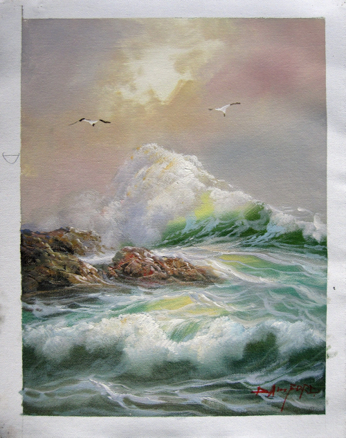 How Long Does Oil Painting Take To Dry Oilpaintingfordummies Oilpaintingeasy Ocean Painting Seascape Paintings Landscape Paintings