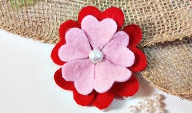Contoh Kerajinan Tangan Bunga Dari Kain Flanel Flower Diy Crafts Felt Flowers Felt Flowers Diy