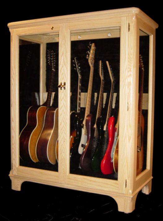 Guitar Closet Glass Display Guitar Storage Guitar Storage Cabinet Guitar Room Decor
