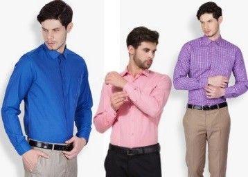 Flipkart Mark Taylor Men's Formal Shirts Sale offer : Get 50% Off on Mark Taylor Men's