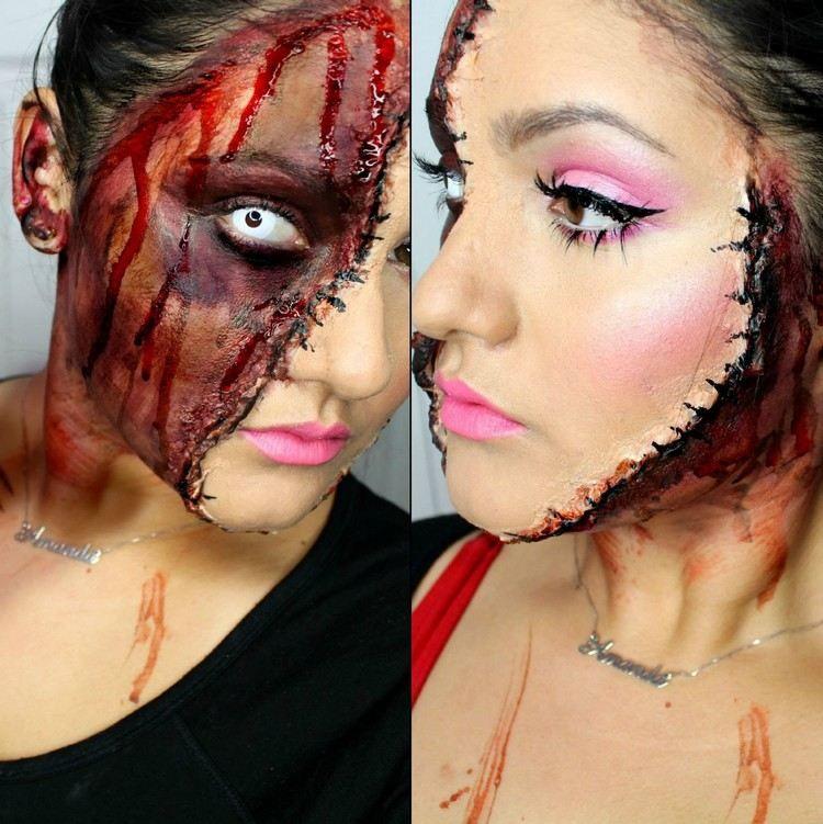 maquillage halloween zombie femme