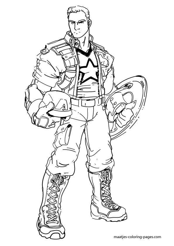 Captain America Coloring Pages | Superhero Coloring Pages ...