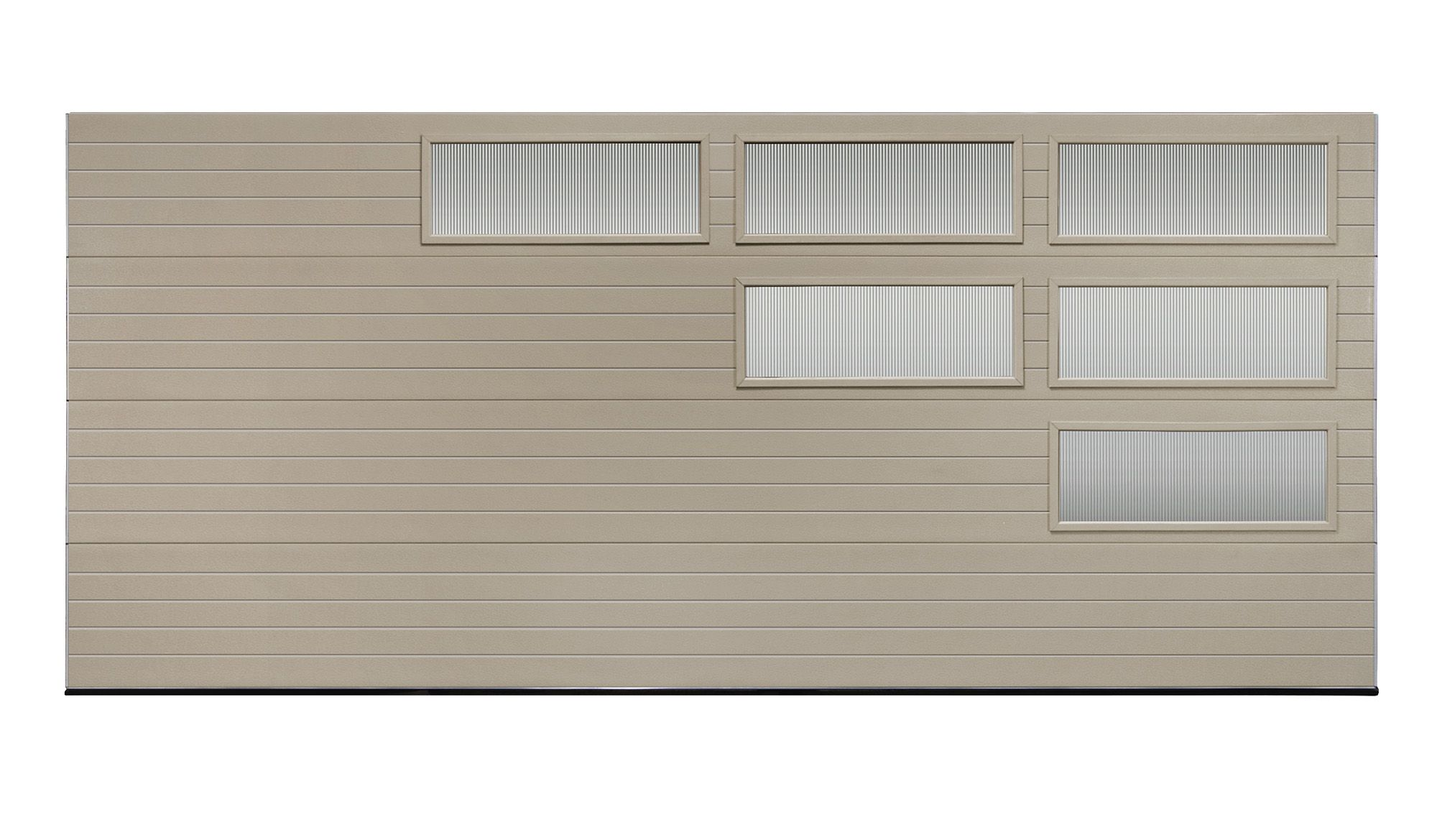 Clopay Modern Steel Collection Garage Door With Reed Glass In Windows Www Clopaydoor Com Garage Door Design Garage Doors Modern Garage Doors