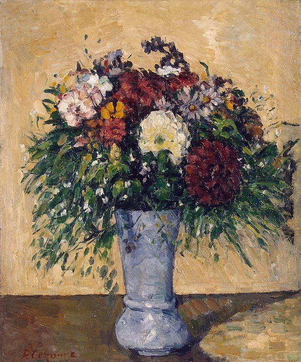 Flowers in a Blue Vase - Paul Cezanne | Illusions, Flowers and ...