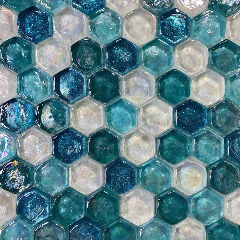 Leonessa 1 X 1 Glass Mosaic Tile Joss Main Mosaic Tiles Mosaic Glass