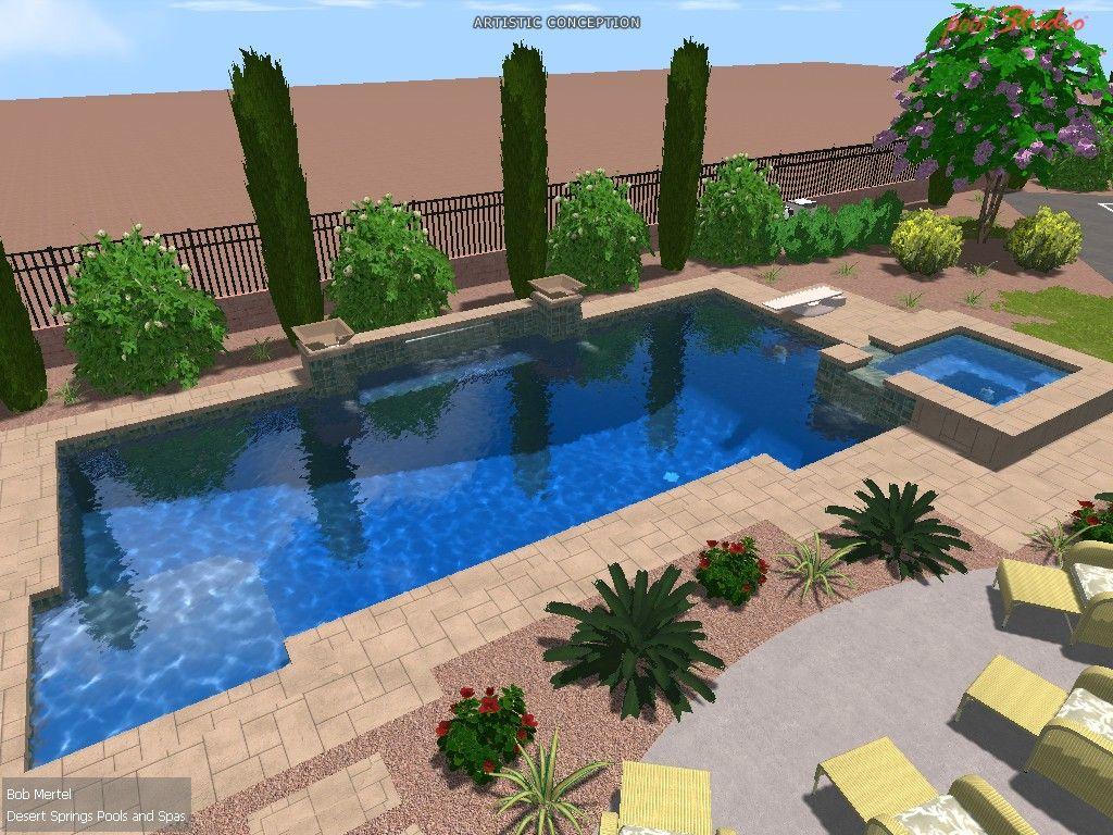 Las Vegas Landscaping Photos Make You Drool Desert Springs Desert Landscaping Backyard Desert Backyard Landscaping Around Pool