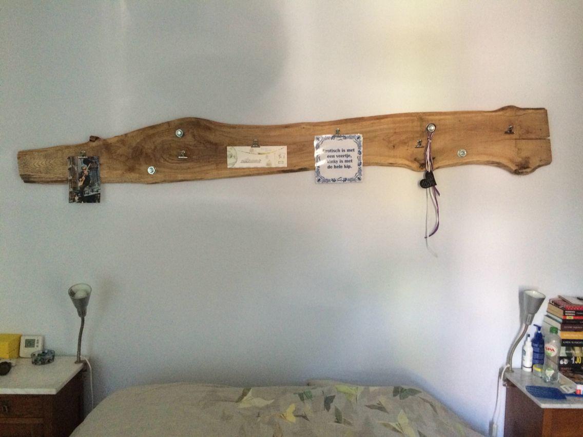 Leuke plank voor boven het bed met knijpers van de hema for Plank boven bed